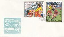 (86053) CLEARANCE Nicaragua  FDC Football Euro 1988 Germany