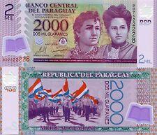 Paraguay 2000 Guaranie 2008 UNC Money Banknote Polymer P228