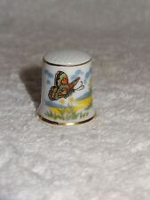 Vintage Bone China Butterfly Theme Thimble- Made in Japan