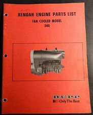 VINTAGE RUPP SNOWMOBILE XENOAH ENGINE PARTS MANUAL 340 FAN COOLED  (424)