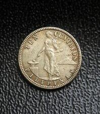 philippines 1944 ten centavos silver coin, moneda de Filipinas 10 centavos plata