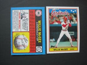 WILLIE McGEE CARDS You Pick 1984-1992 Topps Fleer Donruss Leaf Score Upper Deck