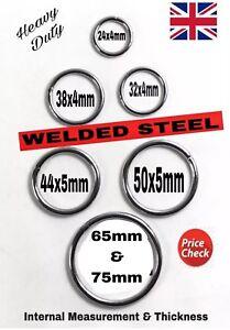 HEAVY DUTY WELDED STEEL METAL CRAFT COLLARS BAGS O RINGS 18 24 32 38 44 50-90mm