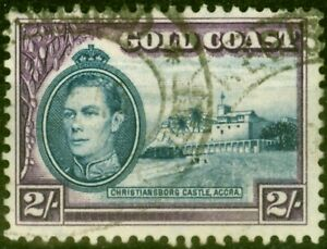 Gold Coast 1940 2s Blue & Violet SG130a Perf. 11.5 x 12 Fine Used