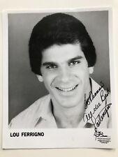 Lou Ferrigno signed 8x10