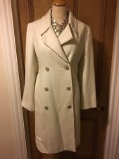 Stunning Designer Ivory Coat By Full Circle with gold Embroidery detail Size 12