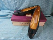 Naturalizer Barb navy blue low heel pump with bow Banner 7AA with box