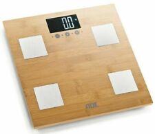 Digital Body fat Analyser Smart Scale, FSC Bamboo.