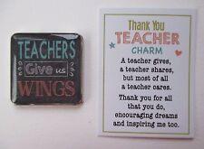 u Teachers give us wings THANK YOU TEACHER pocket token charm ganz
