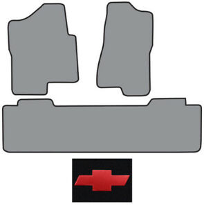 2001-2006 Chevrolet Silverado 2500 HD Ext Cab 2pc Fronts 1pc Rear Logo Floor Mat