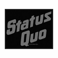 STATUS QUO Logo Woven Sew On Patch Official Licensed Band Merch