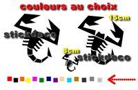 abarth scorpion adhesifs Vinyl Decals Stickers X3 autocollant sticker