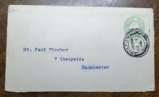 1906 KEVII Cover to Mr P. Fischer, 7 Cheapside, Manchester. From Bolton Spinning