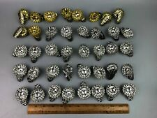 40 Vintage Silver & Gold Christmas Tree Candle Holders Pine Cone Clip Victorian