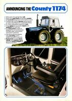 FORD COUNTY TRACTOR 1174 SALES BROCHURE/POSTER ADVERT A3