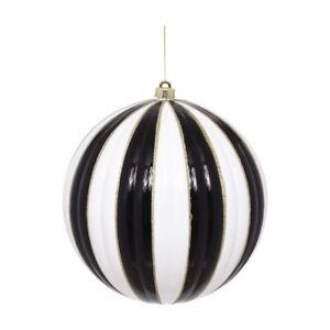 Mark Roberts 2020 Christmas Joy Ball Ornament, 12.5 inches, Black/White