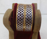 Bollywood Golden Bangles Ethnic South Indian Jewelry Fashion Bracelet Set 2.4*