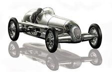 G642: Mercedes Argent Flèche w25 modèle voitures de course, SPINDIZZY modèle voiture