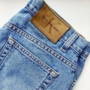 Vintage 90s Calvin Klein Women's Easy Fit Sandblast Jeans 28W/34L Blue Lightwash