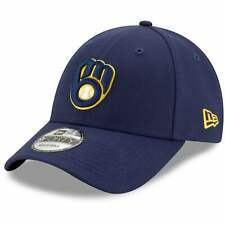 Milwaukee Brewers New Era Game The League 9FORTY Adjustable Hat - Navy