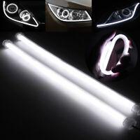Universal LED DRL Tube Headlight Strip White Angel Eye Halo Ring Rings 6000K