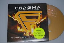 Fragma Feat. Maria Rubia ‎– Everytime You Need Me. CD-SINGLE Promo