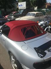 Mazda Mx5 MK1 - Burgundy - Mohair Hood Soft Top with Plastic Window