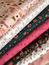 100% Cotton Fabric Fat Quarter FQ Bundle - Serengeti by Dashwood Studio Cats