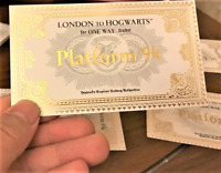 3 FOR 2 SALE HARRY POTTER FILM TICKET FREE SHIPPING TRAIN CHRISTMAS GIFT UK WAND