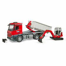 BRUDER MB Arocs Roll-Off Container and Schaeff Mini Excavator - 03624