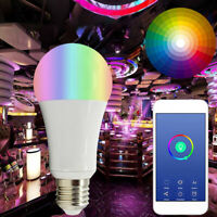 Smart Wifi RGB Bulb Color Changing LED Light Lamp E27 B22 For Alexa Google Home