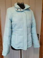 Joules light blue solstice padded puffer coat jacket size 10 thick winter Read