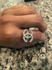 Ring White Cubic Zirconia 925 Silver Chanel Logo & Sparkling Fashion Beautiful
