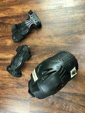 "Rollerblade Pads Set 12"" Knee & 9"" Elbow Black Inline Skate Safety Pads"
