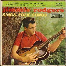 "JIMMIE RODGERS ""SINGS FOLK SONGS"" FOLK ROCK 50'S EP ROULETTE 1-315"