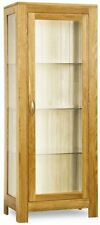 Contemporary Oak Display Cabinets