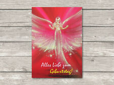 """♥ Engel Postkarte """"Alles Liebe zum Geburtstag!"""" Engelbild Grußkarte Glückwunsch"""