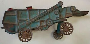 McCormick Deering Cast Iron Threshing Machine Farm Toy Combine hopper Arcade IL