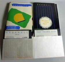 Commodore 64/128: PURE STAT Baseball + 1985 TEAM Disk C64 COMPLETE- SubLogic