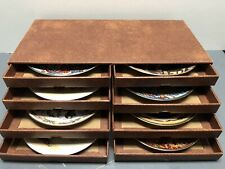 Van Hygan & Smythe Cardboard Storage Box with Collector's Plates Lenox Franklin