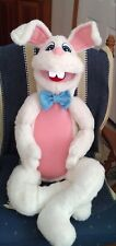 """Large 30"""" tall Rabbit Ventriloquist Puppet -ministry,education, Easter"""