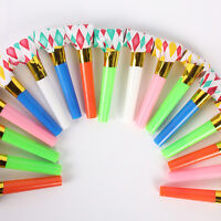 20 PCS PARTY BLOWERS BLOWOUTS BIRTHDAY LOOT BAG FILLER NOISE FOIL Rainbow  .AU
