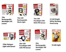 LED Rechargeable Cordless Mobile Portable Work Site Flood Light COB HEAD Camping