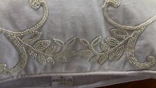 SFERRA Ivory Linen/Beaded CRESSIA Pillow Sham/Cover 20x20 NWT Beautiful