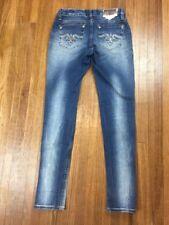 Rerock Express Womens Thick Stitch Low Rise Skinny Jeans Sz 26x30