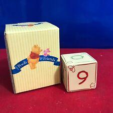 Disney Winnie The Pooh & Friends hand crafted porcelain Block # 9 DD