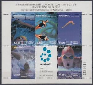 Spanish Stamps - 2003 Int Swimming Championships Barcelona Sheet In MNH