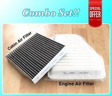 Engine&Carbonized Cabin Air Filter For CAMRY VENZA V6 Rav4 Vibe ES350 xB tC