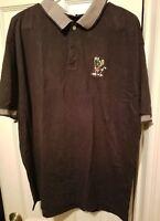 GUC 1998 Warner Bros Store Marvin The Martian Navy Golf S/S Shirt Men's sz L VTG