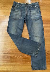 """RAG RECYCLE """"Ra Re"""" Men's Denim Jeans W33 L32 100% Cotton"""